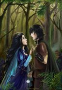 Violet and Raven in the wood.  Artist: Tsyplakova Alla